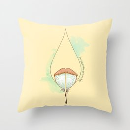 The pen is the tongue of the soul Throw Pillow