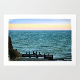 Beach Road Happisburgh Norfolk Art Print