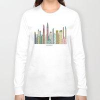san diego Long Sleeve T-shirts featuring San Diego skyline  by bri.buckley