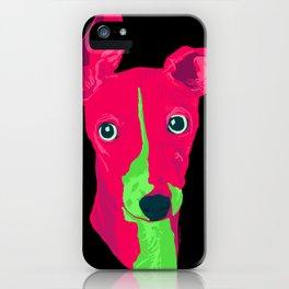 italian greyhound - blk iPhone Case