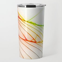 Rainbow Broken Damaged Cracked out back White iphone Travel Mug
