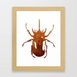 Beetle Insect Art Framed Art Print