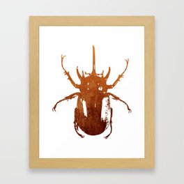 Beetle Insect Art Framed Art Print