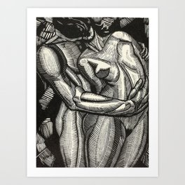 Embrace, Engraving from Song of Solomon 1929 by Cecil Buller Art Print