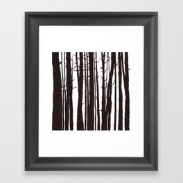 The Trees and The Forest Framed Art Print