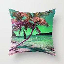 St. Thomas Beach Throw Pillow