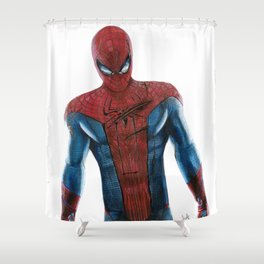 The friendly neighborhood Spidey Shower Curtain