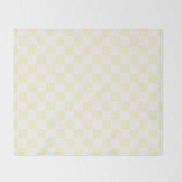 Checker (Cream/White) Throw Blanket