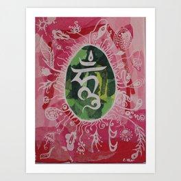 Om Meditation. Art Print