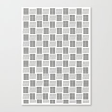 Dots & triangles Canvas Print
