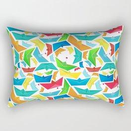 Origami boats multicolour seamless pattern Rectangular Pillow