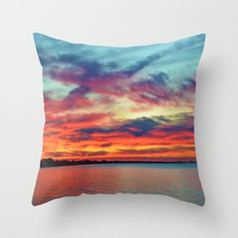 Sunset on Lake St. Clair in Belle River, Ontario Throw Pillow