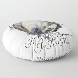 A Witch Answers To No Man Floor Pillow