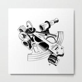 SEXTANT Metal Print