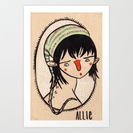 Allie Art Print