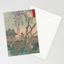 a Bridge and a House. Ukiyoe Landscape Stationery Cards