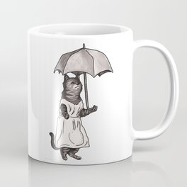 Fancycat with Umbrella Coffee Mug