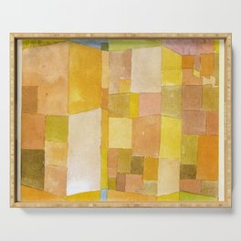 Golden Abstract - Paul Klee Serving Tray