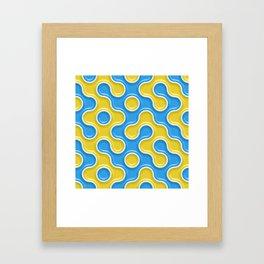 Yellow Blue Truchet Tilling Pattern Framed Art Print