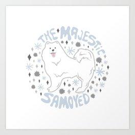 The Majestic Samoyed Art Print