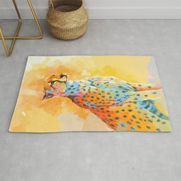 Wild Grace - Cheetah digital painting Rug