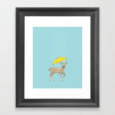 Rain Deer Framed Art Print