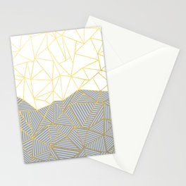 Ab Half and Half Grey Stationery Cards