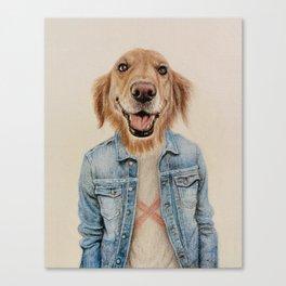 dog cowboy Canvas Print