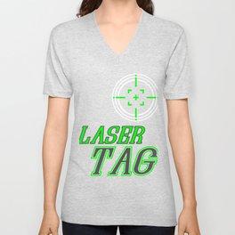 Funny Laser Tag Party T-Shirt Mode On Laser tag Unisex V-Neck