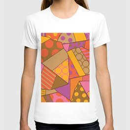Graphic Leaf Patchwork (Fall Bold Colors) T-shirt