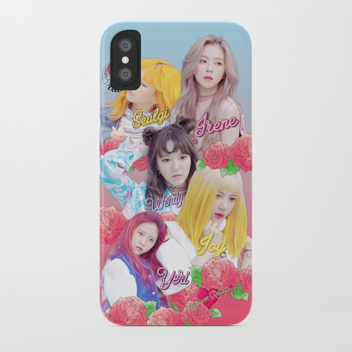 Red Velvet Russian Roulette Roses Version Iphone Case By