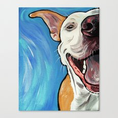 Smiling Pit Bull  Canvas Print