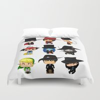 anime Duvet Covers featuring Anime Hatters by artwaste