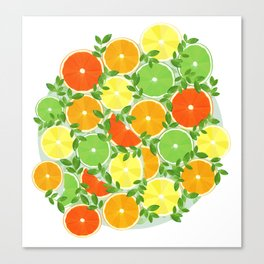 A Slice of Citrus Canvas Print