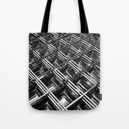 Rebar On Rebar - Industrial Abstract Tote Bag