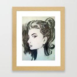 Lady in Sketch Framed Art Print