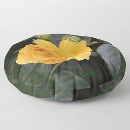 "A Rose Named ""Julia Child"" Floor Pillow"