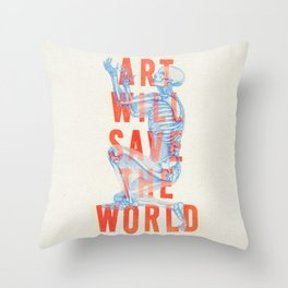 Art Will Save The World Throw Pillow