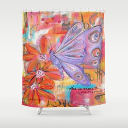 She is more than She knows... Shower Curtain