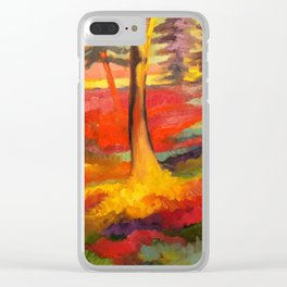 Vibrant Forest Clear iPhone Case