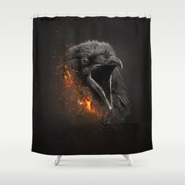 XTINCT x Raven Shower Curtain