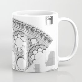 Notre Dame Rose Window Facade Architecture Coffee Mug
