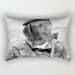 Dog Army Soldier Rectangular Pillow