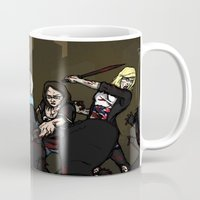 girl power Mugs featuring Girl Power by ZOMBIFIED