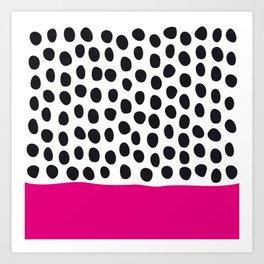 Modern Handpainted Polka Dots with Pink Art Print