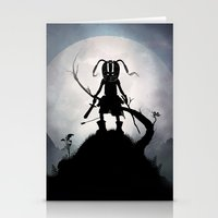 skyrim Stationery Cards featuring Skyrim Kid by Andy Fairhurst Art