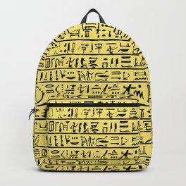 Egyptian Hieroglyphics // Yellow Backpack