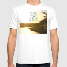 You Only Live Forever White Mens Fitted Tee MEDIUM