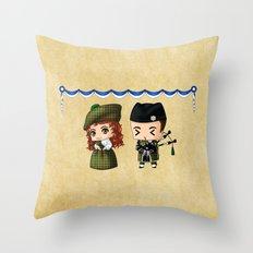 Scottish Chibis Throw Pillow