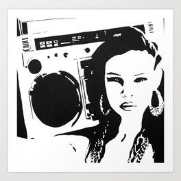Me & My Radio Art Print